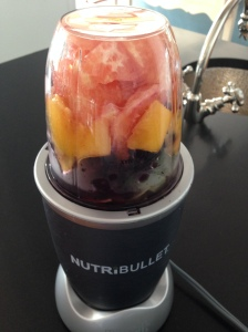 My grapefruit and blueberry smoothie provides lots of antioxidants!